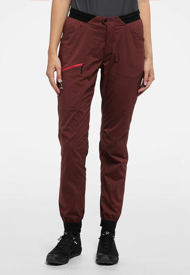 L.I.M FUSE PANT WOMAN - Outdoor trousers - maroon red