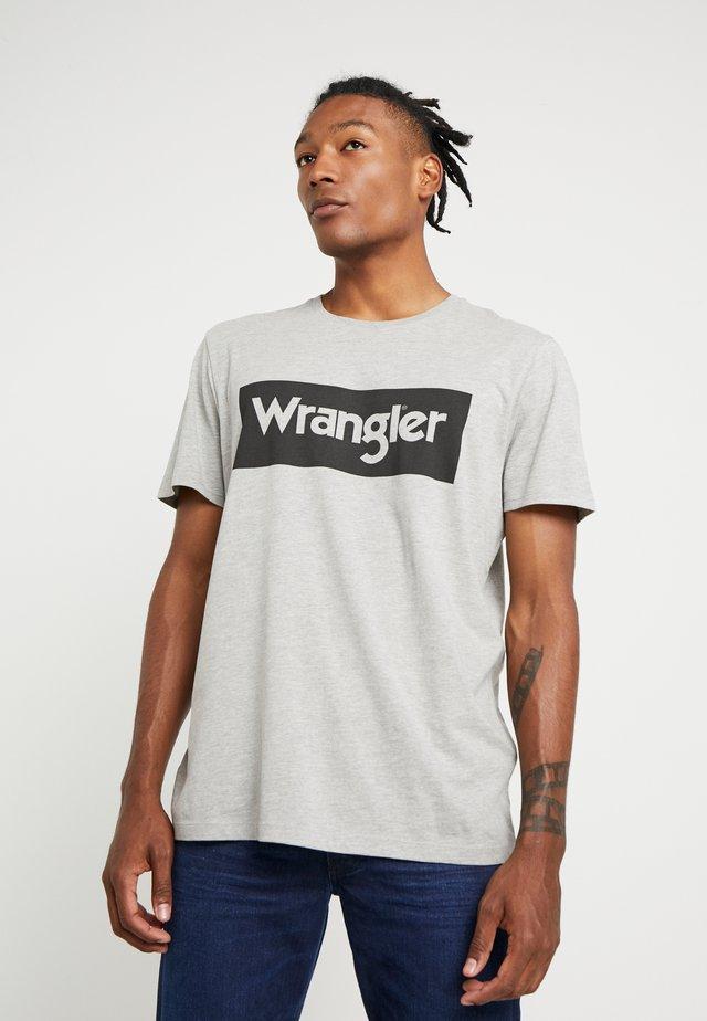 T-shirt med print - mid grey melange