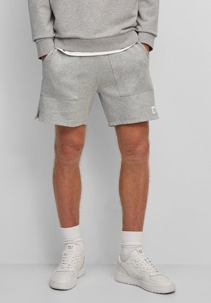 FRONT POCKETS BACK POCKET - Shorts - cloudy gray melange