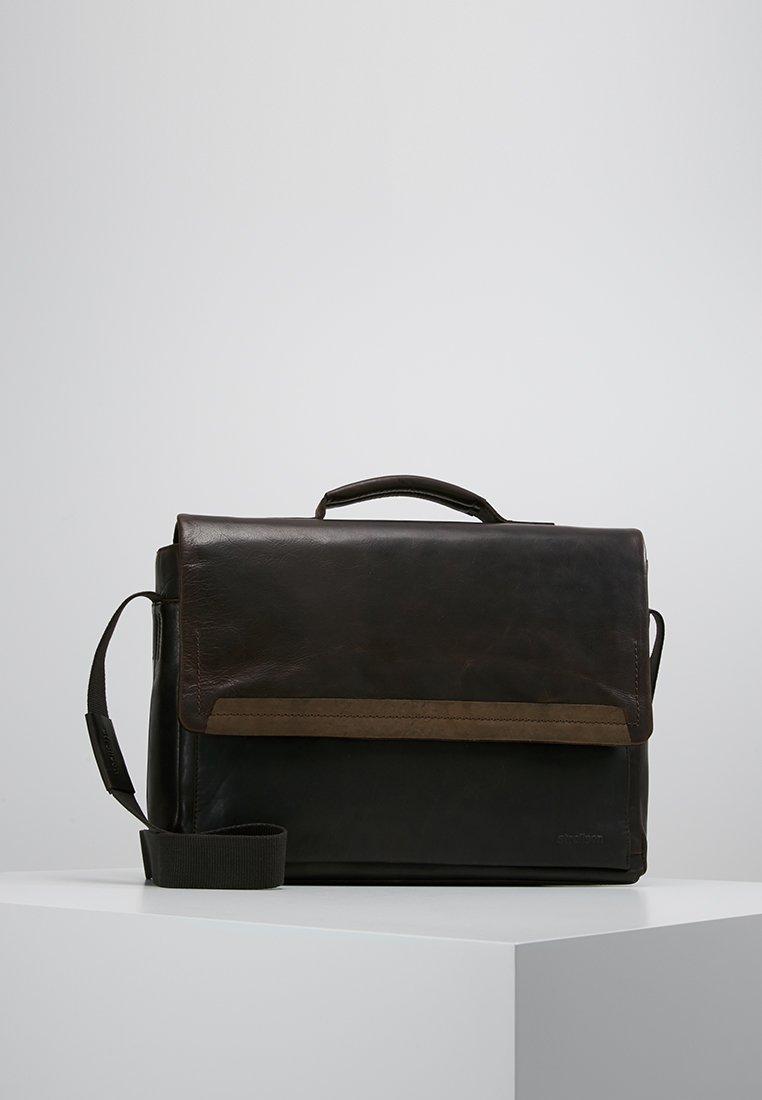 Strellson - CAMDEN - ANKTENTASCHE - Briefcase - dark brown