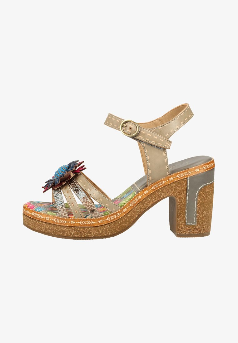 LAURA VITA - High heeled sandals - grey
