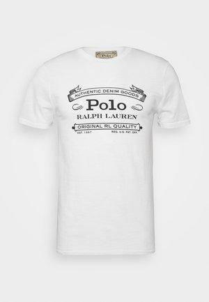 CUSTOM SLIM FIT JERSEY T-SHIRT - T-shirt print - white
