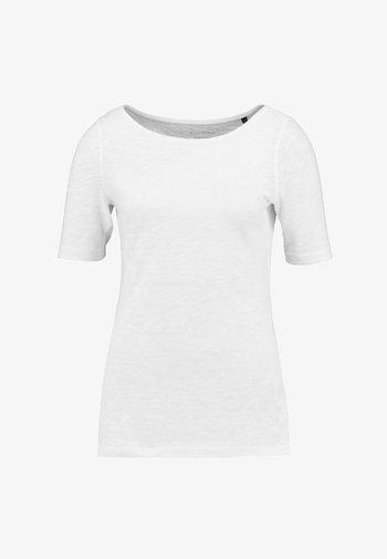 SHORT SLEEVE BOAT NECK - Basic T-shirt - white