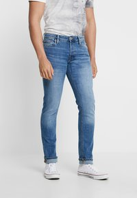 Jack & Jones - JJIGLENN JJORIGINAL - Jeansy Slim Fit - blue denim - 0