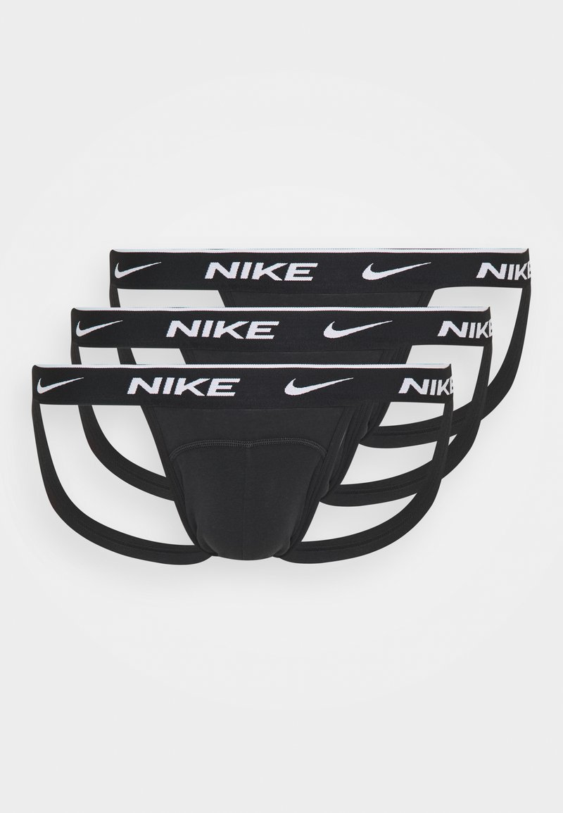 Nike Underwear - JOCK STRAP 3PK COTTON STRETCH - Slip - black