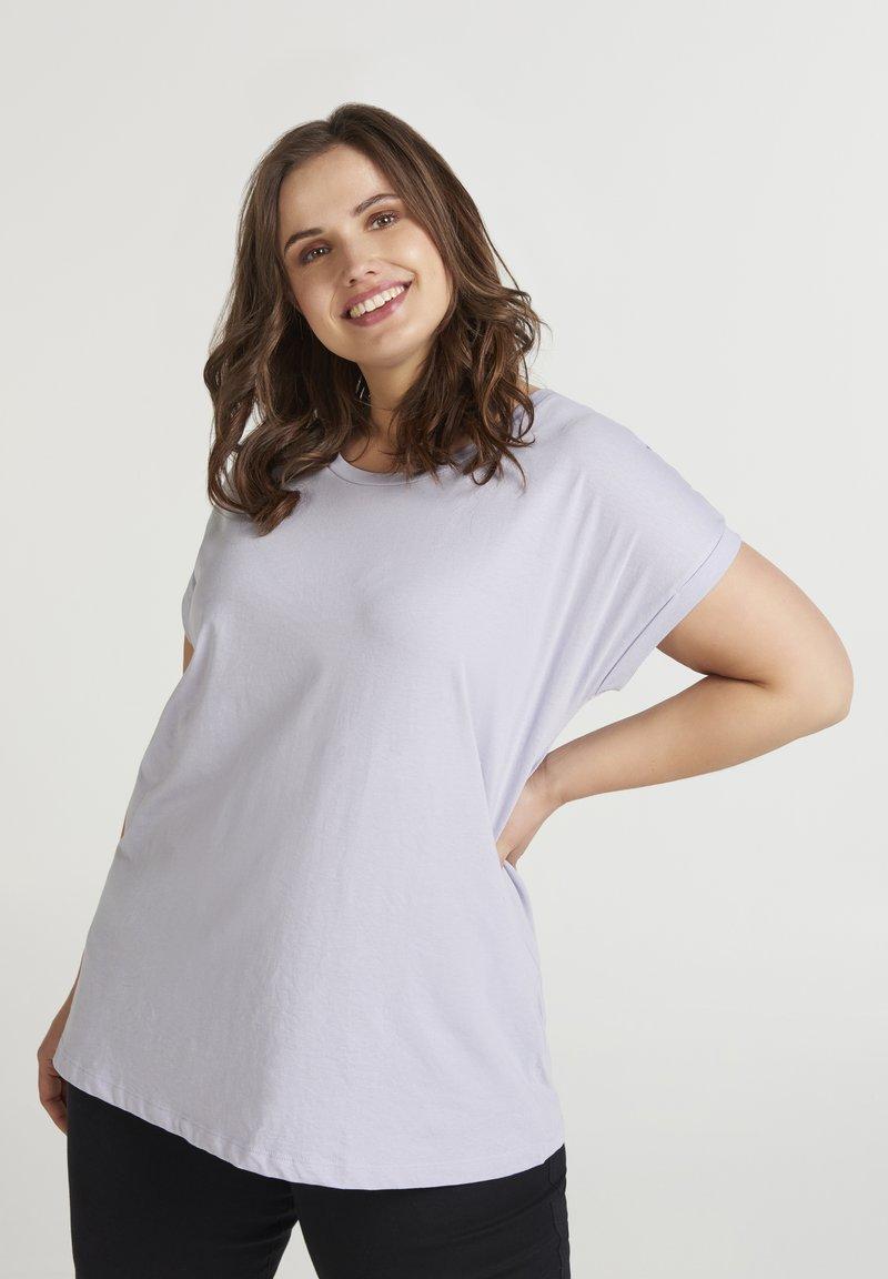 Zizzi - T-shirt basic - light purple