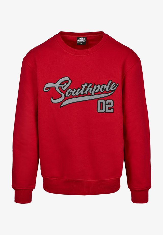 SOUTHPOLE HERREN SOUTHPOLE WRITTEN LOGO CREWNECK - Sweater - red