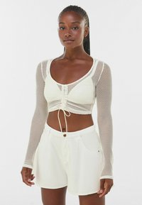 Bershka - MIT SCHLEIFE  - Long sleeved top - off-white - 0