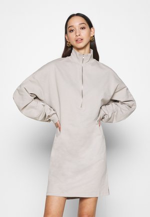 FRONT ZIP DRESS - Day dress - greige