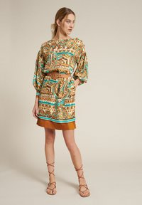 Luisa Spagnoli - Day dress - var turchese/cammell - 1