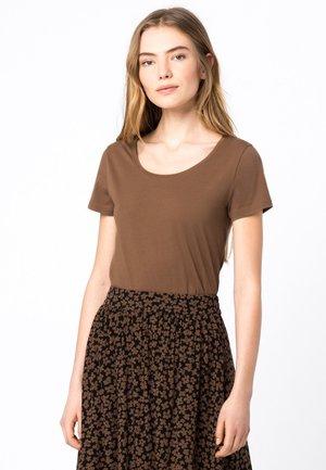 Basic T-shirt - noisette