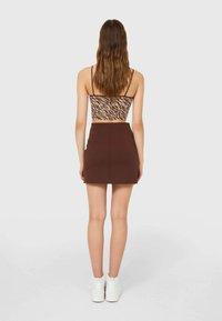 Stradivarius - A-line skirt - brown - 1