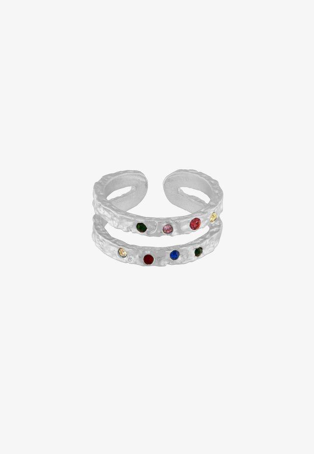 AMBER RAINBOW - Oorbellen - silver plating