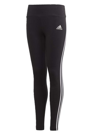 3-STRIPES COTTON LEGGINGS - Legginsy - black