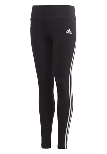 3-STRIPES COTTON LEGGINGS - Leggings - black