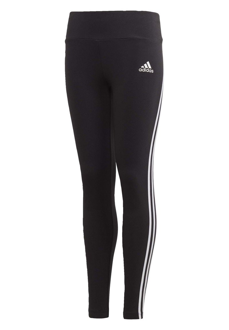 adidas Performance - 3-STRIPES COTTON LEGGINGS - Legginsy - black