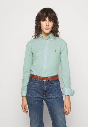 HEIDI LONG SLEEVE - Button-down blouse - celedon