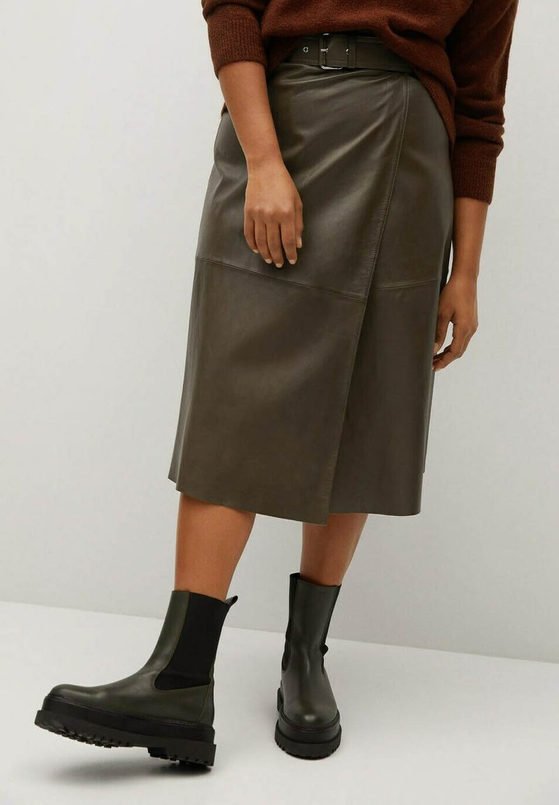 Violeta by Mango - OLIVE - Wrap skirt - olive