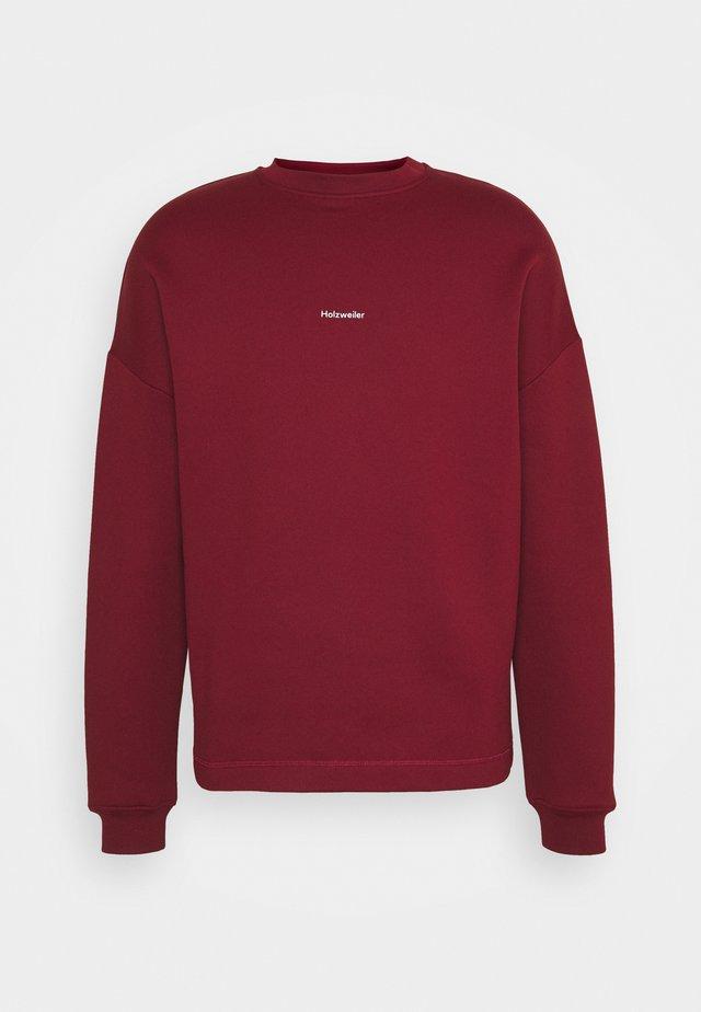 FLEA CREW - Sweatshirt - burgundy