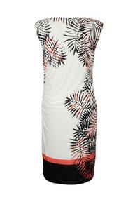 Alba Moda - Jersey dress - off-white schwarz orange - 6