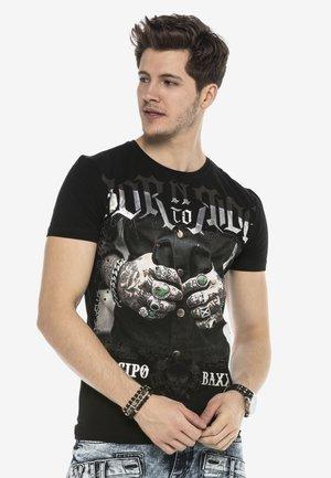 TOUGH RIDER  - Print T-shirt - schwarz