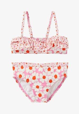 SET - Bikini - pflaumenblütenrosa gänseblümchenmuster
