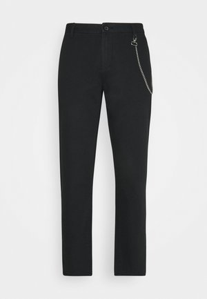 CROPPED LOOSE FIT PANTS - Pantaloni - black