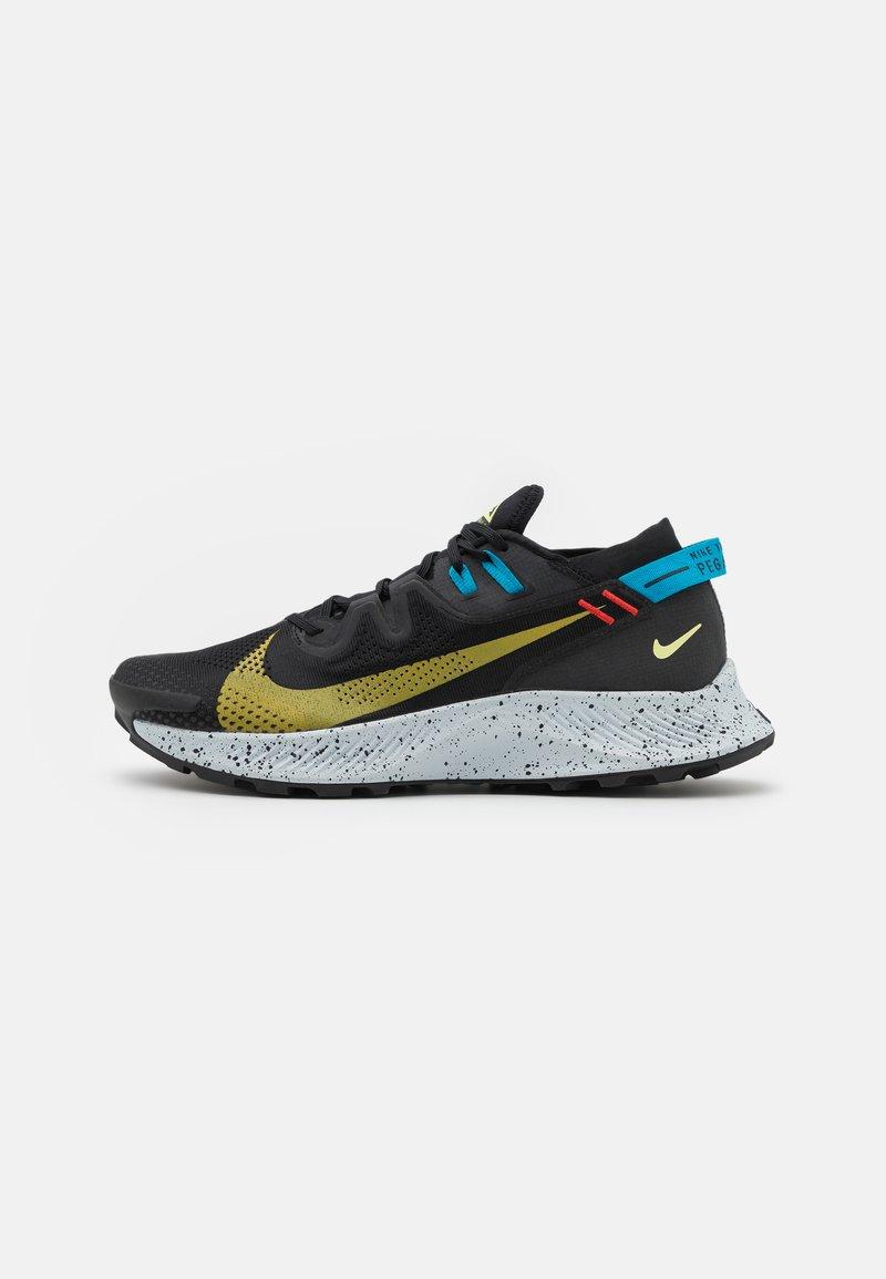 Nike Performance - PEGASUS TRAIL 2 - Trail running shoes - black/dark sulfur/off noir/chile red/laser blue/limelight