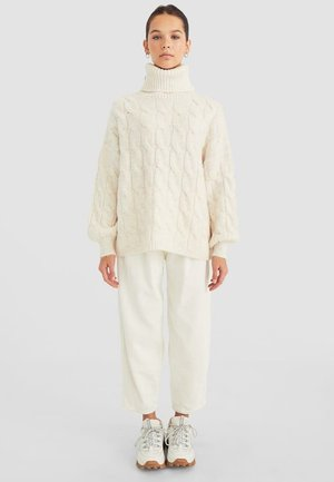 PULLOVER MIT ZOPFMUSTER 05092267 - Neule - white
