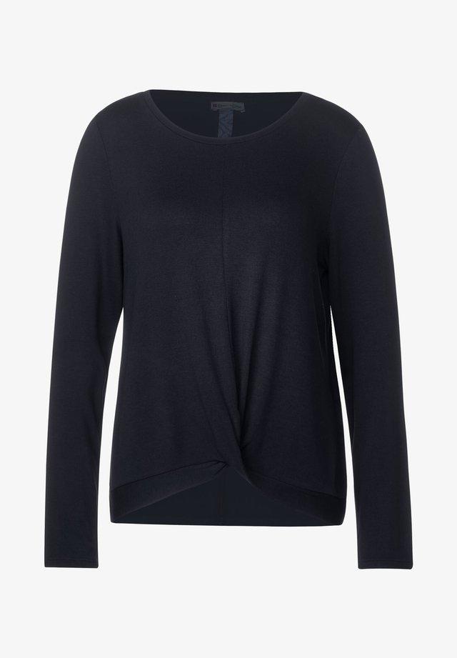 MIT KNOTENDETAIL - Long sleeved top - blau