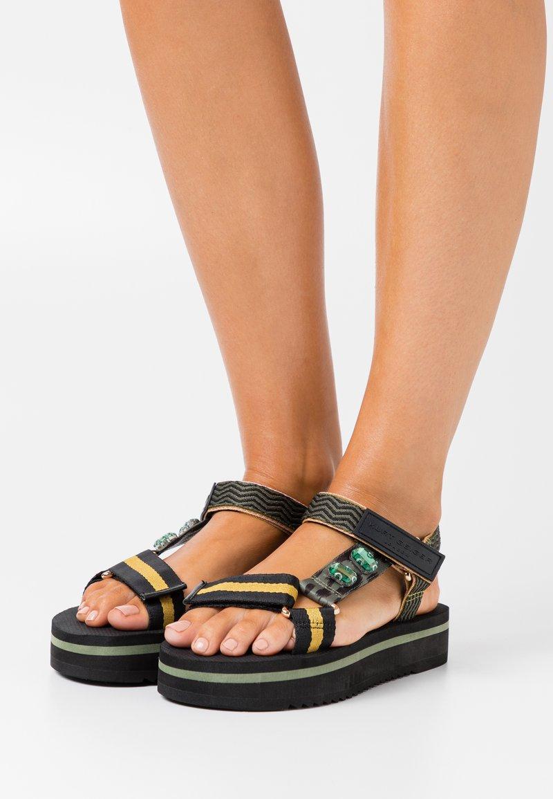 Kurt Geiger London - OLIVIA - Platform sandals - khaki