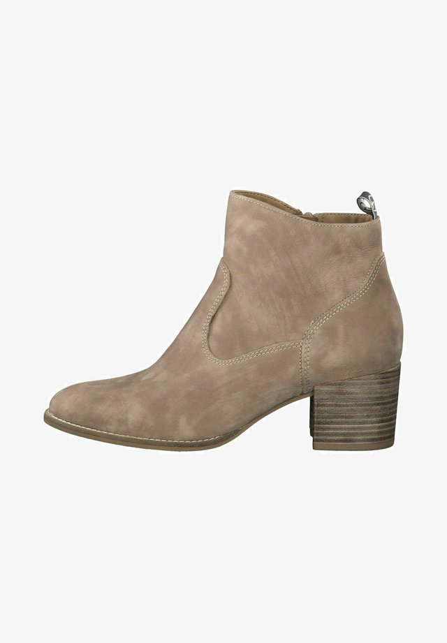 Boots à talons - taupe nubuc