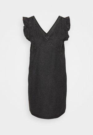 PCLUA MINI DRESS - Dongerikjole - black denim