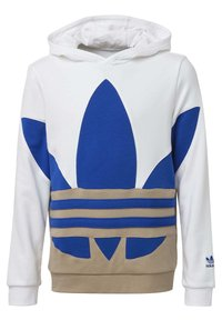 adidas Originals - LARGE TREFOIL HOODIE - Jersey con capucha - white - 0