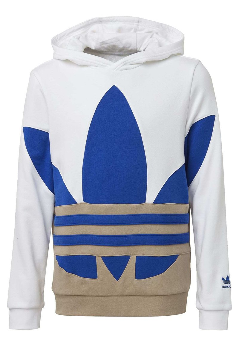 adidas Originals - LARGE TREFOIL HOODIE - Jersey con capucha - white