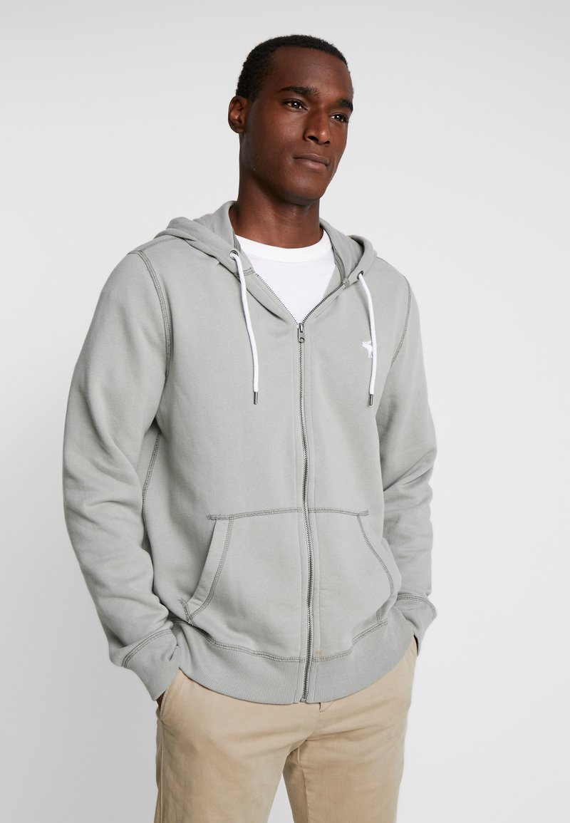 Abercrombie & Fitch - HOOD TAPE ICON FULLZIP  - Collegetakki - pale green