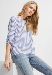 comma casual identity - Blouse - powder blue woven stripes - 2