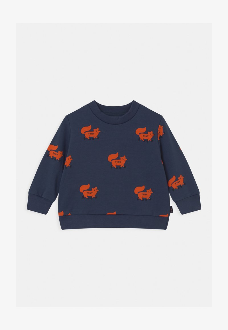 TINYCOTTONS - FOXES - Sweatshirt - light navy/sienna