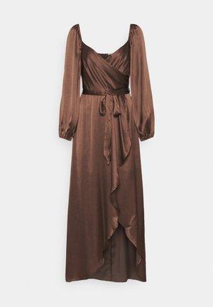 WRAP DRESS - Occasion wear - dark brown