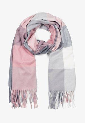 MIT LANGEN FRANSEN, KARIE - Scarf - rosa-grau-weiß