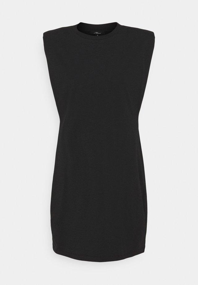 PADDED DRESS - Jerseyjurk - black