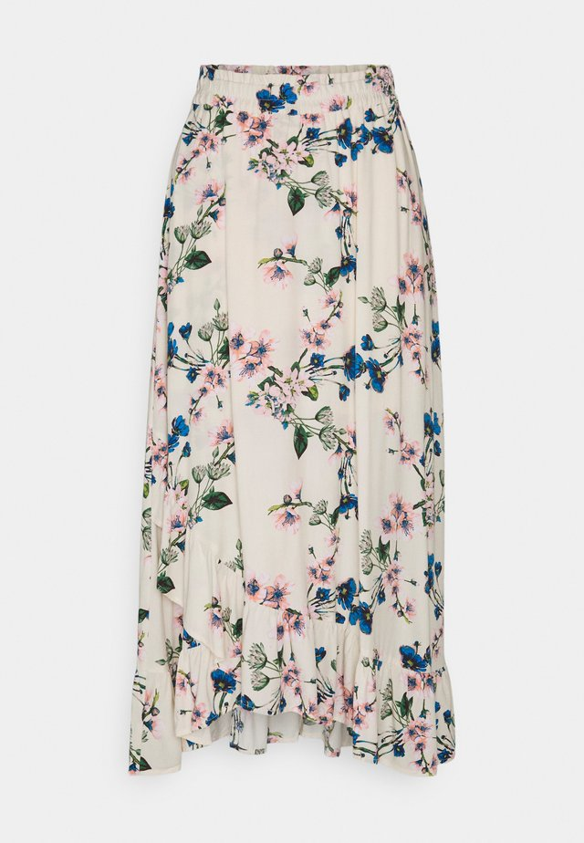 OBJPAREE MAXI SKIRT CIRCULOS - A-line skirt - sandshell