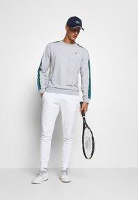 Lacoste Sport - RAINBOW TAPING - Collegepaita - silver chine/navy blue/utramarine/green/white - 1