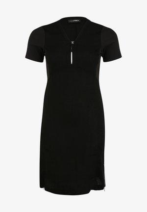 MIT REISSVERSCHLUSS AUSSCHNITT - Jersey dress - schwarz