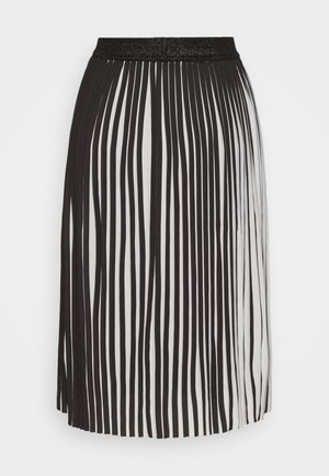 LEANE OLIVIA SKIRT - Pleated skirt - black/white