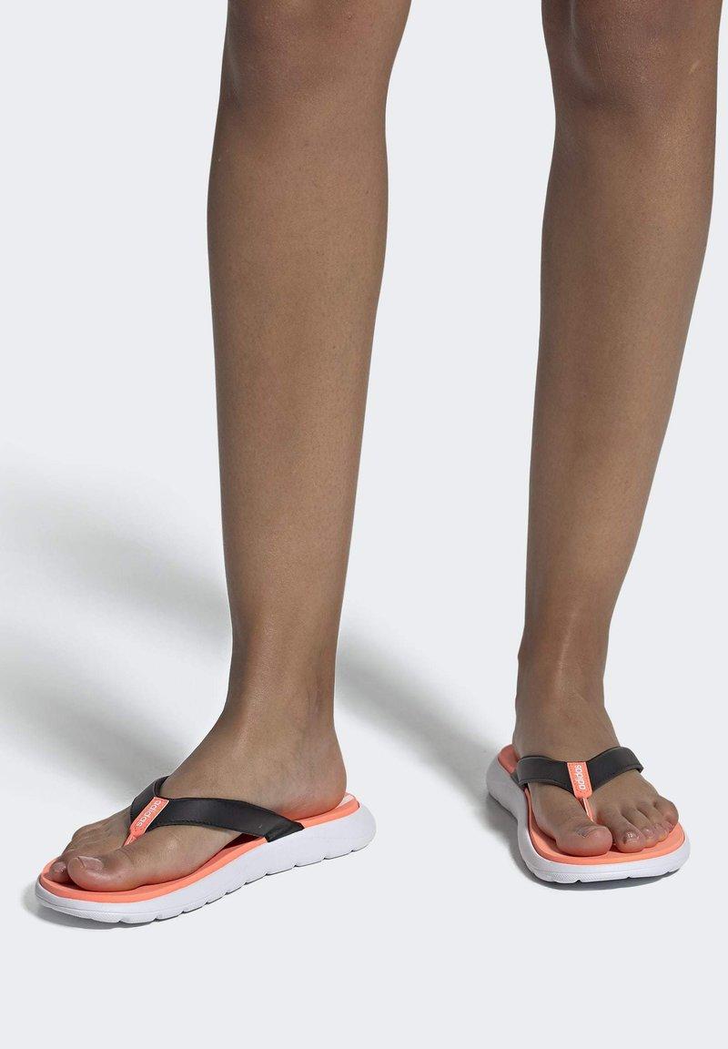adidas Performance - COMFORT FLIP-FLOPS - T-bar sandals - black