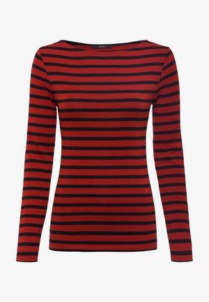 Long sleeved top - tandori red