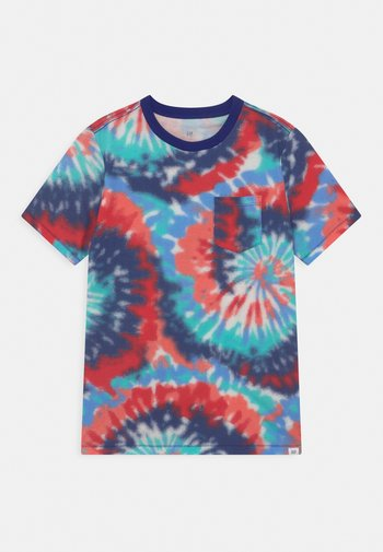 BOYS TIE DYE CREW - Print T-shirt - red