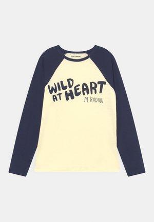 WILD AT HEART RAGLAN TEE UNISEX - Long sleeved top - navy