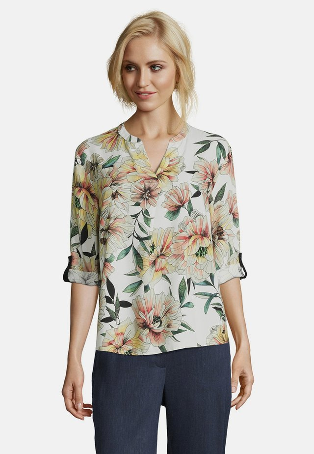 MIT PRINT - Blouse - nature/yellow